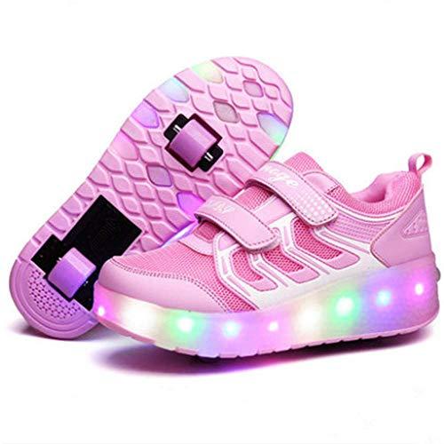 IDE Play LED-Licht-Turnschuhe Unisex Kinder Rollschuh Schuhe Removable Werden Sport Trainer USB Charge Led...
