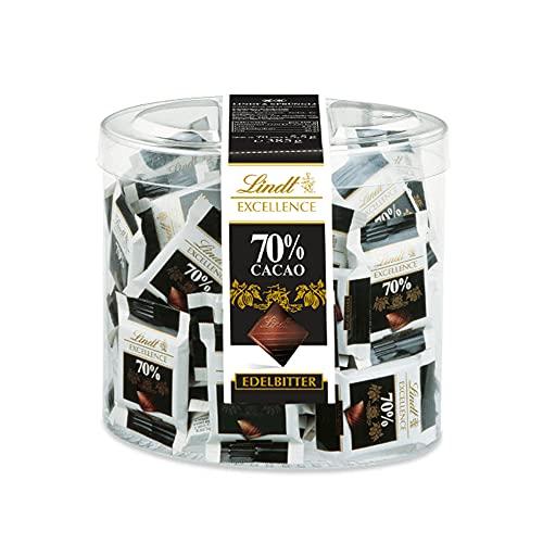 Lindt Excellence 70% Kakao Mini-Schokoladentäfelchen | 385g Packung | Einzeln verpackte intensive...