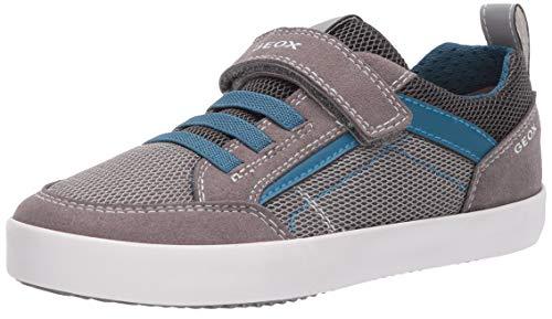 Geox Jungen J Kilwi Boy E Sneaker, Grau (Grey/Petrol C0386), 31 EU