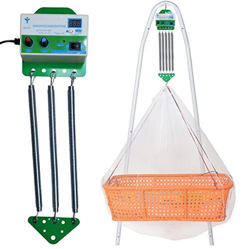Feder für Federwiege, Babyschaukel Elektrisch Automatisch mit Timing-Funktion, Schwingfeder für die Baby...