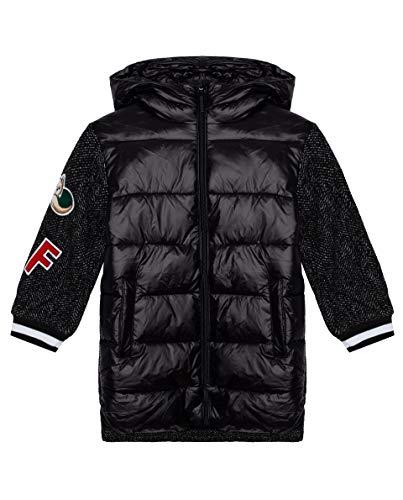 GULLIVER Mädchen Mantel Kinder Jacke Winter Steppjacke Schwarz Lang mit Kapuze 5 Jahre