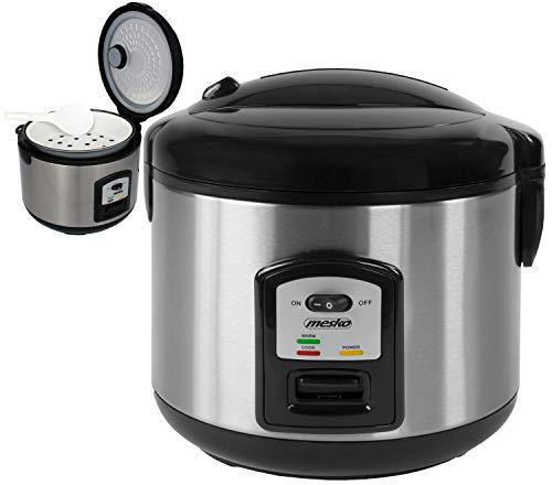 Reiskocher | 1,5 Liter | 1000 Watt | Multikocher | Reis Kocher | Edelstahl | Reis Kochtopf | Warmhaltefunktion...