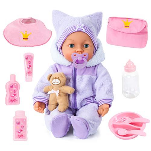 Bayer Design 94694AA, Funktionspuppe, Interaktive Puppe Piccolina Magic Eyes, bewegt den Mund, blinzelt und...