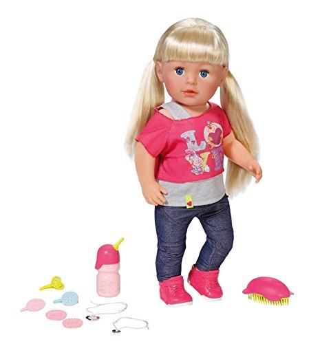 Zapf Creation BABY Born Interactive Sister: Puppe zum Kämmen und mit lebensechten Funktionen