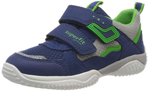 Superfit Jungen STORM Sneaker, (Blau/Grün 81), 35 EU