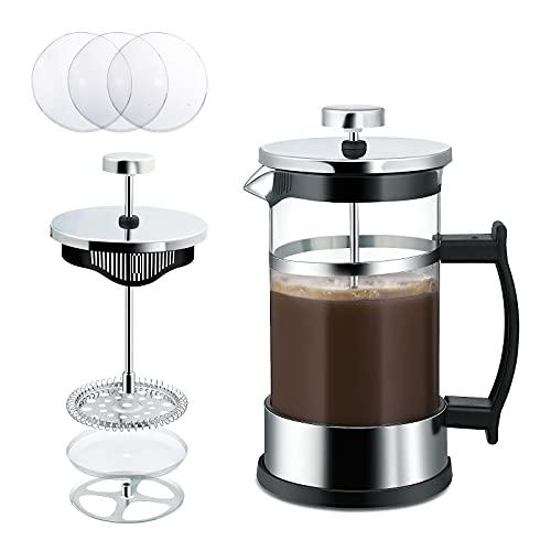 ZOEON French Press Kaffeebereiter mit Edelstahl Filter 0,6l (5 Tassen) - Französische Kaffeepresse, Coffee...