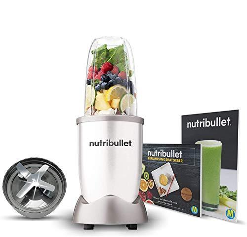 NutriBullet 600W weiß – Mixer mit Extraktor-Klinge macht Superfood aus einfachen Lebensmitteln – Power...