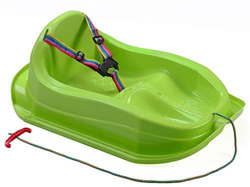 MARMAT Kinder Schlitten mit Sicherheitsgurt bis 3 Jahre (Grün)