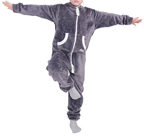 LIL'Finch 90Q5 Kinder Jumpsuit LIL'Teddy F2004 Jungen Dunkelgrau Gr. 146-152