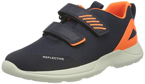 Superfit Baby Jungen RUSH Sneaker, (Blau/Orange 80), 20 EU