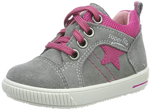 Superfit Mädchen Moppy Sneaker, Grau (Hellgrau/Rosa 26), EU