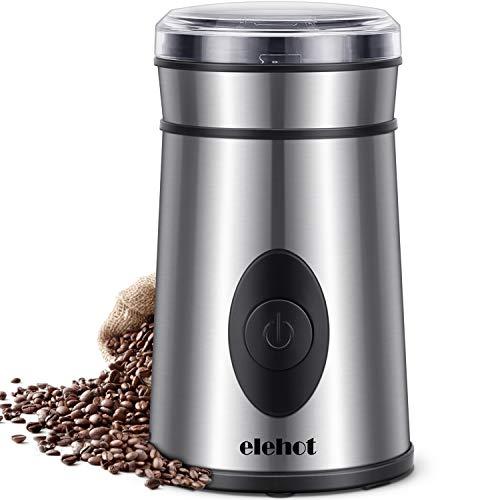 Kaffeemühle Elektrische Kaffeemühle mit Edelstahl Schlagmesser für Kaffeebohnen Nüsse Gewürze Getreide...