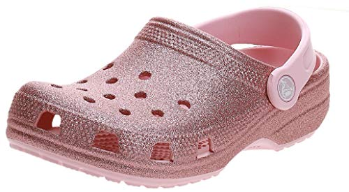 Crocs Unisex-Kinder Classic Glitter K Clogs, Pink (Blossom 682), 28/29 EU