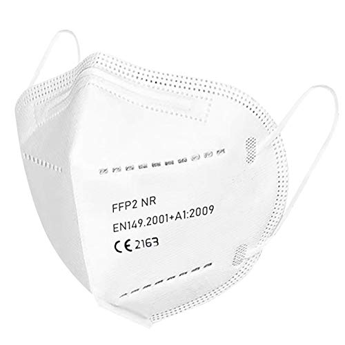U-Kiss FFP2 Maske 50 x Atemschutzmaske CE 2163 Zertifiziert 5-lagig Staubmaske Staubschutzmaske...