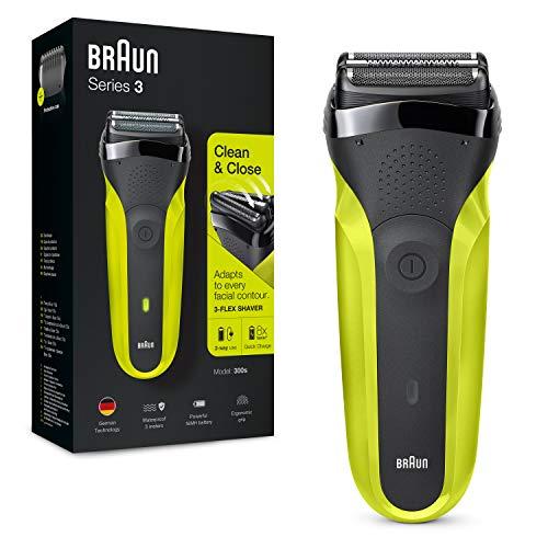 Braun Series 3 300 Elektrorasierer mit 3 flexiblen Klingen, wiederaufladbar und kabellos, Elektrorasierer mit...