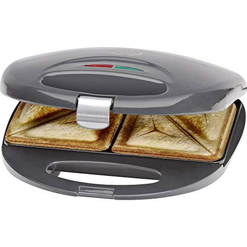 Clatronic ST 3477 Sandwichtoaster, 3-eckige Sandwichplatten, automatischer Temperaturregler, mit 2...