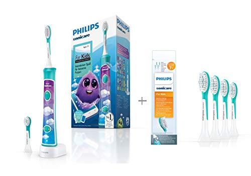 Philips Sonicare For Kids Elektrische Zahnbürste HX6322/04, mit Schalltechnologie, für Kinder, inkl....