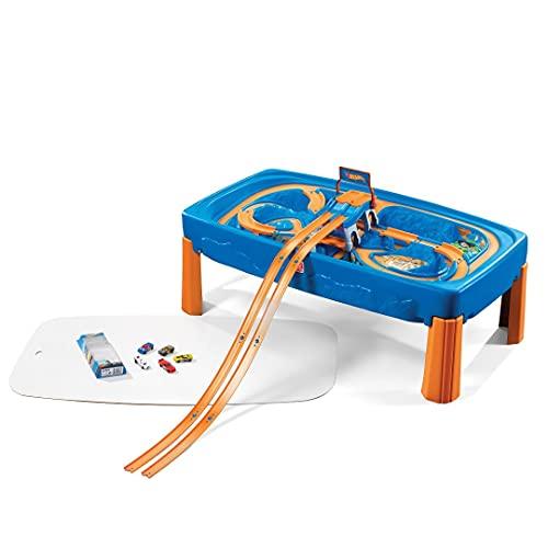 Step2 Hot Wheels Car & Track Spieltisch Autorennbahn   Rennbahn Für Kinder inkl. Autos   Kinderspielzeug aus...