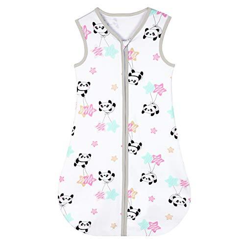Yoofoss Schlafsack 100% Baumwolle Baby Schlafsack 70x45cm Panda-Muster Babyschlafsack Neugeborene im 0-6...