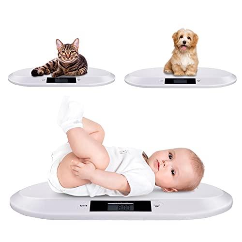 Babywaage, Digitale Kinderwaage bis 20Kg, Babywaage elektronische mit digitale LED Anzeige, Hochpräziser...