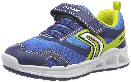 Geox Jungen J Dakin Boy A Sneaker, Blau (Navy/Lime C0749), 34 EU