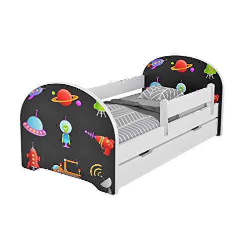 Jugendbett Kinderbett mit Rausfallschutz Matratze Schubladen und Lattenrost Kinderbetten für Mädchen und...
