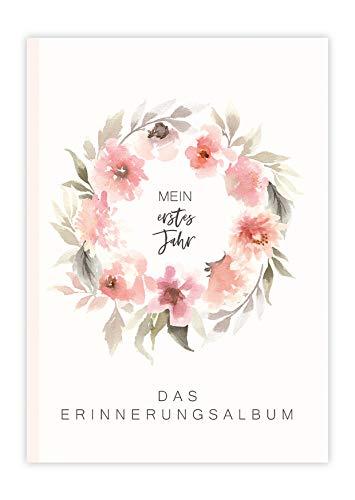 Mein erstes Jahr Erinnerungsalbum Baby 1. Lebensjahr Rosa Babyalbum Mädchen Baby Buch Erinnerung Geschenke...