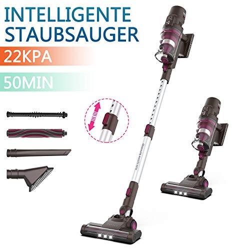 ORFELD Akku Staubsauger, Kabelloser Staubsauger mit Intelligente Saug Einstellung, 4 in 1 Handstaubsauger,...