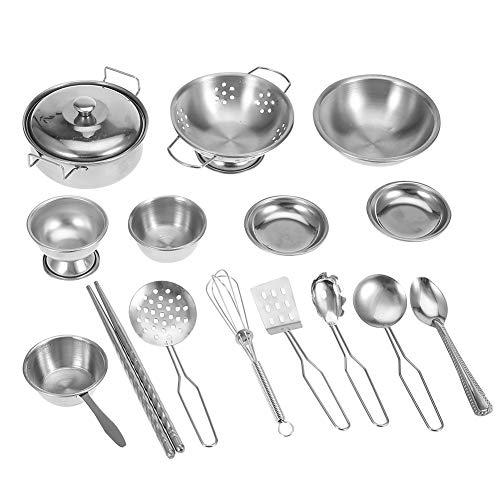 Zerodis Kinder Küche Kochgeschirr Spielzeug Küche Spielzeug Edelstahl Kochgeschirr Kochgeschirr Pan...