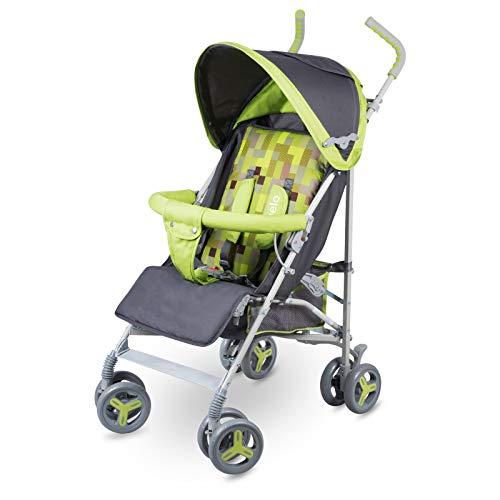Lionelo Elia Buggy klein zusammenklappbar Kinderwagen, ab 6 Monaten bis 15 kg belastbar, Moskitonetz,...