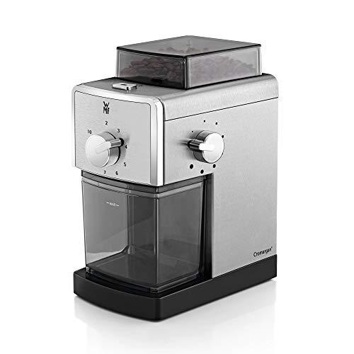 WMF Stelio Kaffeemühle Edition, Scheibenmahlwerk aus Stahl, 17-stufiger Mahlgrad, 2-10 Tassen, ideal für...