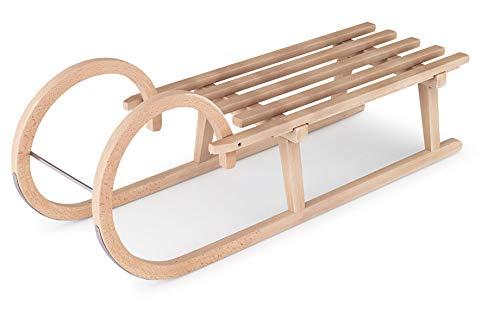 Generisch Holzschlitten 100cm von Flyeralarm - Schlitten aus Holz (Buche) mit Hörnern - Hörnerschlitten zum...