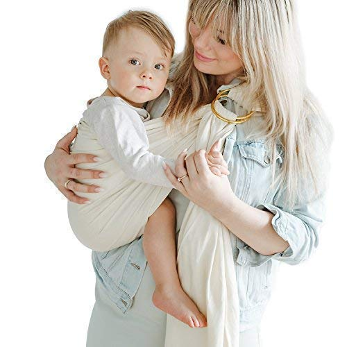 Shabany® - Ring Sling Tragetuch - 100% Bio Baumwolle - Babybauchtrage für Neugeborene Kleinkinder bis 15 KG...