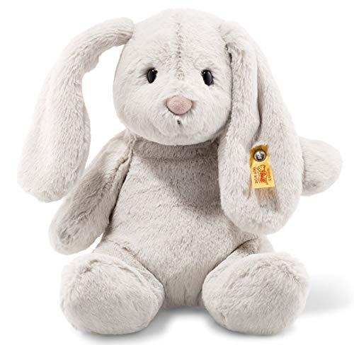 Steiff Hoppie Hase - 28 cm - Plüschhase mit Schlappohren - Soft Cuddly Friends - Kuscheltier für Kinder -...