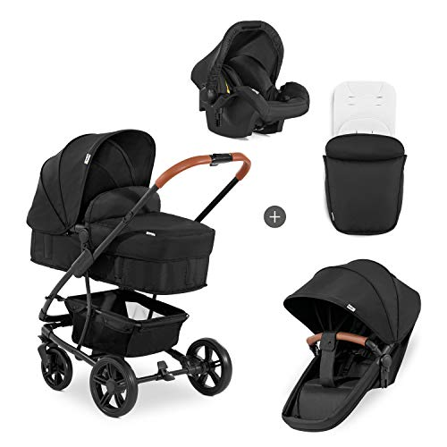 Hauck Kombi Kinderwagen Pacific 4 Shop N Drive / inkl. Babywanne umbaubar zu Sportsitz / inkl. Autositz /...