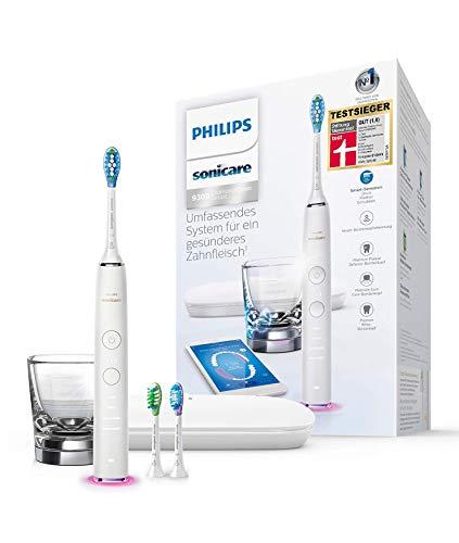 Philips Sonicare DiamondClean Smart Elektrische Zahnbürste mit Schalltechnologie HX9903/03, Ladeglas,...