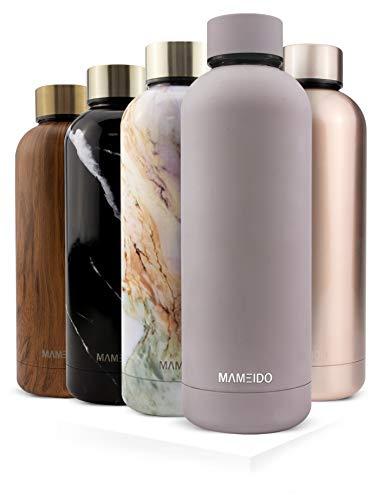 MAMEIDO Trinkflasche Edelstahl - Taupe Grau Matt - 750ml, 0,75l Thermosflasche - auslaufsicher, BPA frei -...