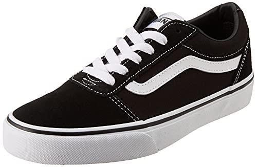 Vans Unisex Kinder Ward Suede/Canvas Sneaker, Schwarz ((Suede/Canvas) Black/White Iju), 36 EU