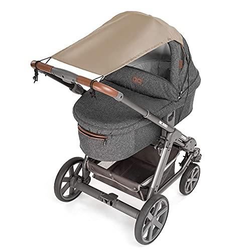 Zamboo Universal Sonnensegel - verstellbarer Kinderwagen Sonnenschutz mit UV Schutz 50 - flexibles...