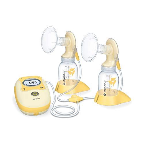 Medela Freestyle elektrische Doppel-Milchpumpe, inkl. Flaschen, Sauger, Akku, Tasche und Stilleinlagen