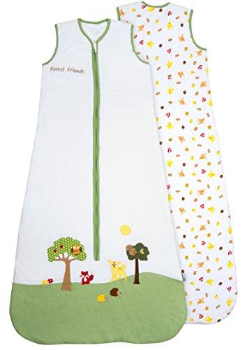 Schlummersack Baby Sommerschlafsack 1 Tog 90cm/6-18 Monate - Waldtiere, Mehrfarbig