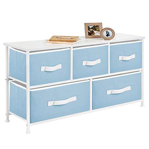mDesign Kommode aus Stoff mit 5 Schubladen - praktisches Aufbewahrungsregal für Kinderzimmer, Schlafzimmer...