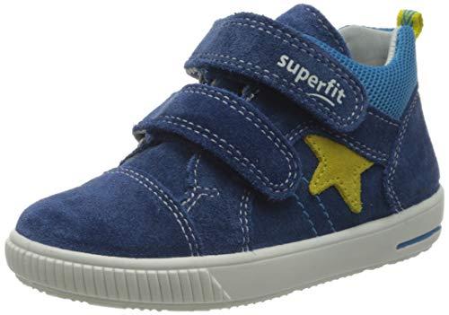 Superfit Baby Jungen Moppy Lauflernschuhe Sneaker, Blau (Blau/Gelb 80), 23 EU