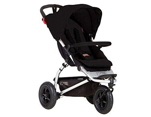 Mountain Buggy Kinderwagen mit 3Rädern All Terrain/leicht/Kompakt schwarz