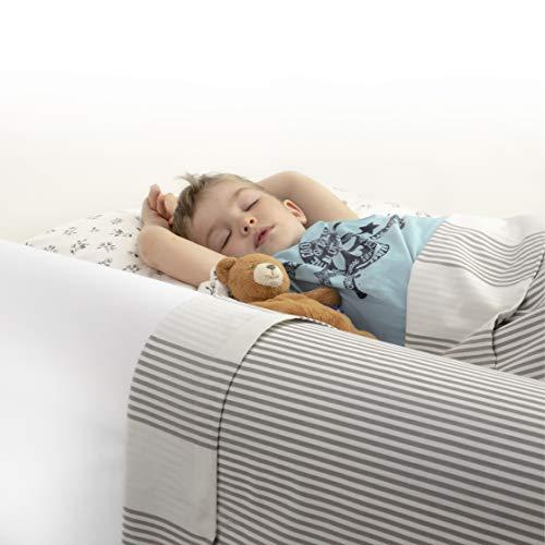 BANBALOO MAX- Sicherheitsbarriere für Kinderbetten Absturzsicherung für Kinder/Rutschfestes...