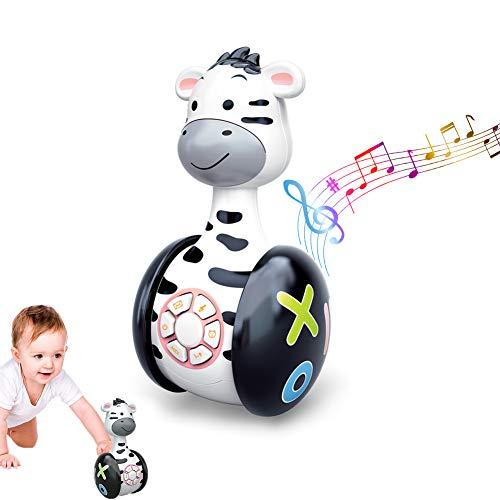 GoHist Baby Spielzeug Tumbler Musikspielzeug, Stehaufmännchen mit LED-Leuchten, Babyspielzeug ab 6 Monate...