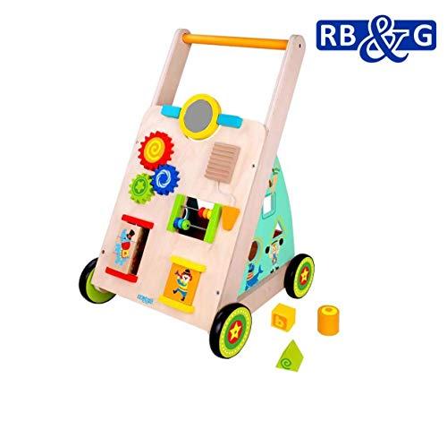 RB&G Lauflernwagen aus Holz mit Gummibereifung