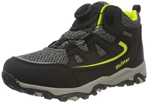 Richter Kinderschuhe TR-1 9246-8171 Walking-Schuh, 9901black/vulc/akz.n.YEL, 36 EU