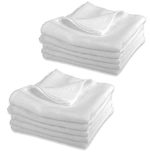 Mullwindeln LUX - 10er Pack weiß 80x80 cm   PREMIUM QUALITÄT - Stoffwindeln & Mulltücher fürs Baby