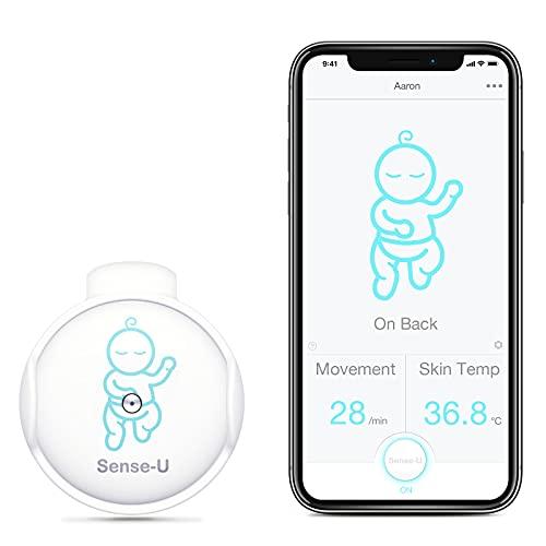Sense-U Baby Bewegung Babyphone: Verfolgt die Bewegung, Hauttemperatur und Schlafposition Ihres Babys direkt...
